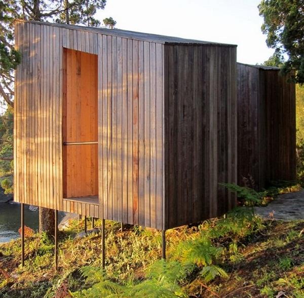 minimalist architecture wood sauna design