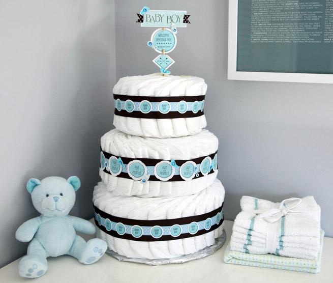 DIY diaper cake decoration
