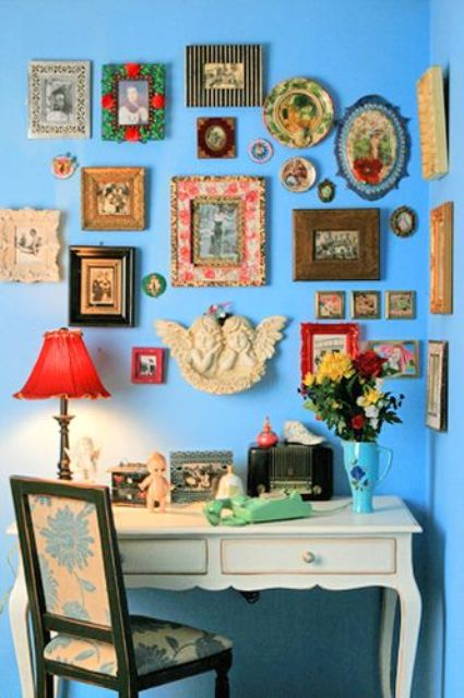 bold vintage gallery wall