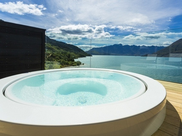 Whirlpool garden minipool zucchetti wooden floor outdoor luxury spruedel water
