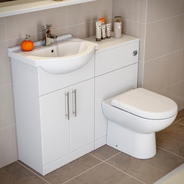 Plumb World essentials-white-gloss-vanity-unit