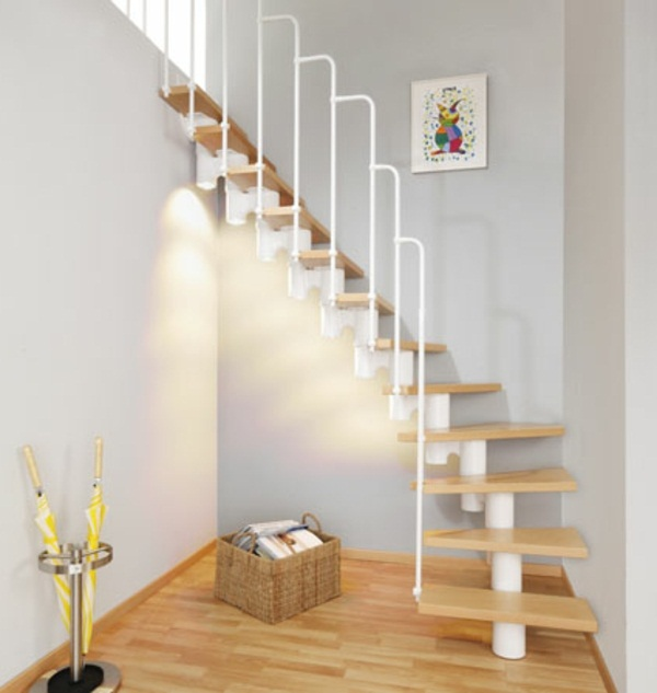 Residential idea steel staircase central stringer