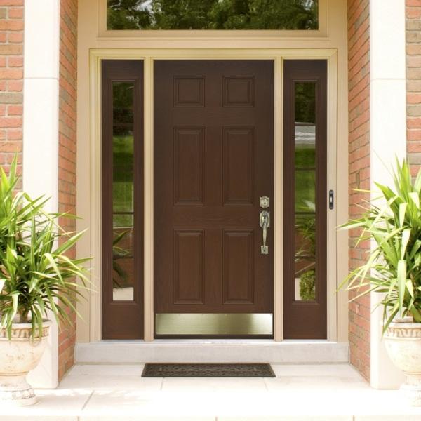 modern house doors great design green plans