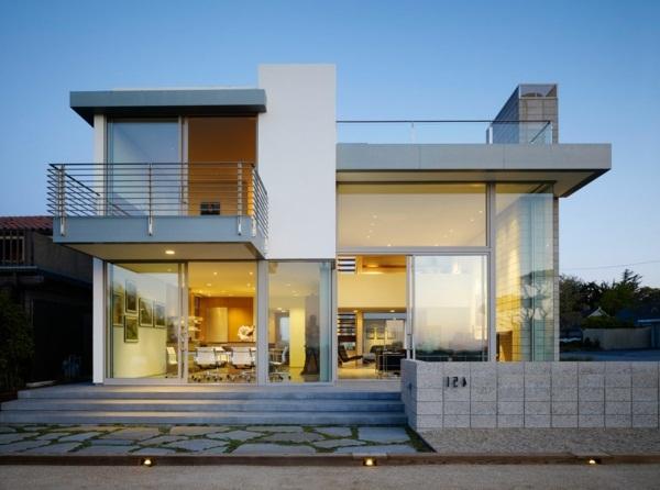 luxury cottage with pool exterior design