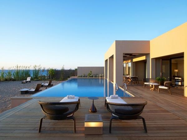luxury cottage with pool fantastic veranda with wooden floor