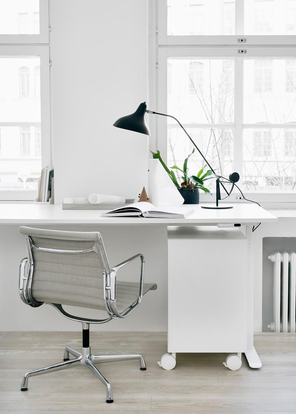 White modern office space. Styling and photos Riikka Kantikoski