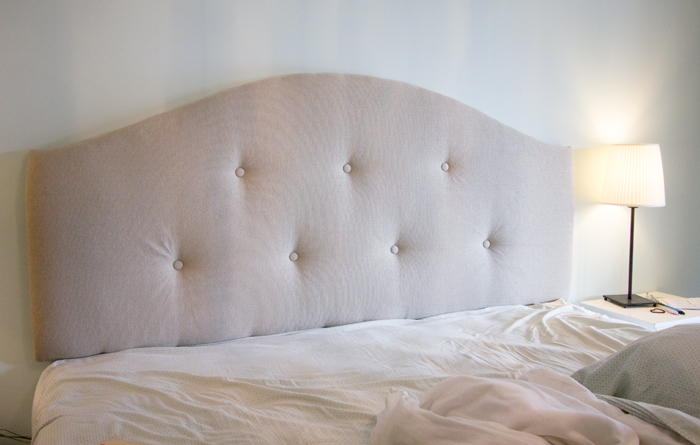 DIY upholstered tufted headboard