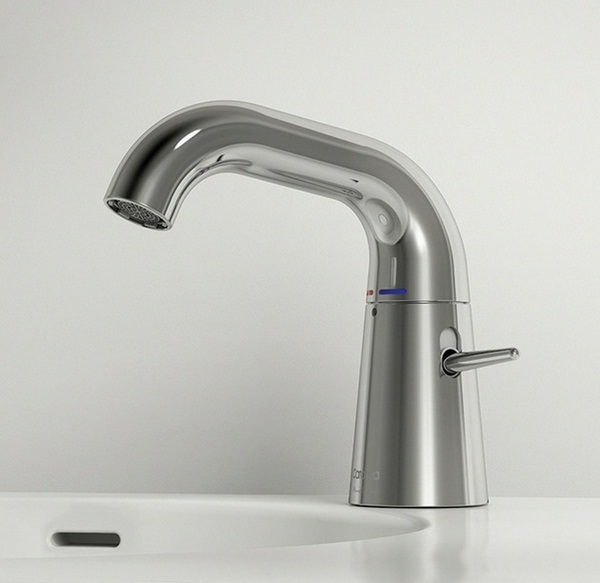 Faucet stainless steel stylish modern design idea sink white