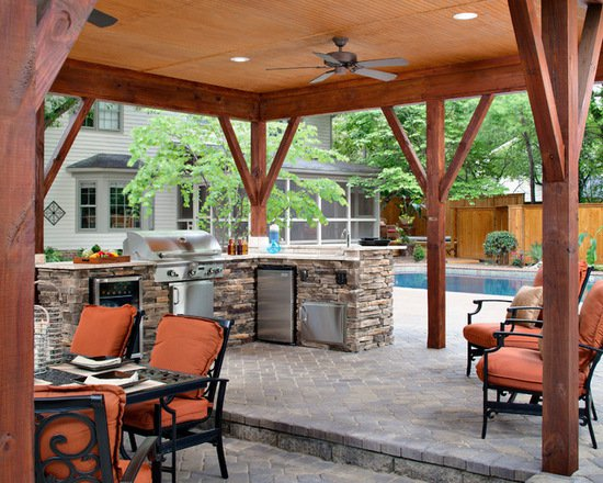 17 Stunning Covered Outdoor Kitchen Design Ideas
