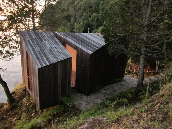 flat roof construction wood sauna design