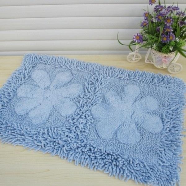 cotton bathmat blue beautiful model