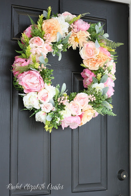 Chic DIY Flower And Greenery Wreath