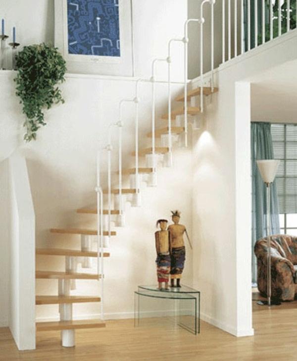Space-saving stairs living idea design
