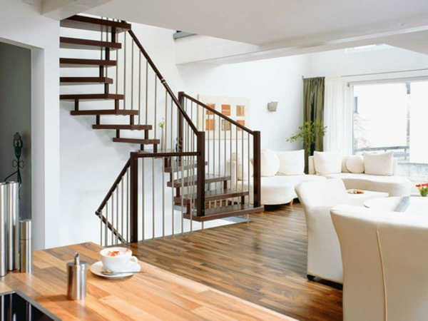 Space-saving stairs living idea