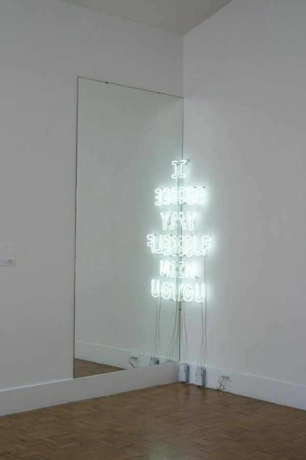 Museum of contemporary art neon light and mirrors