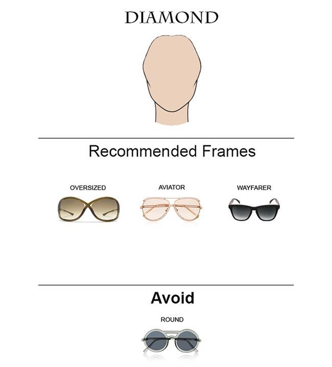 Glass Frames for Diamond Face Shape