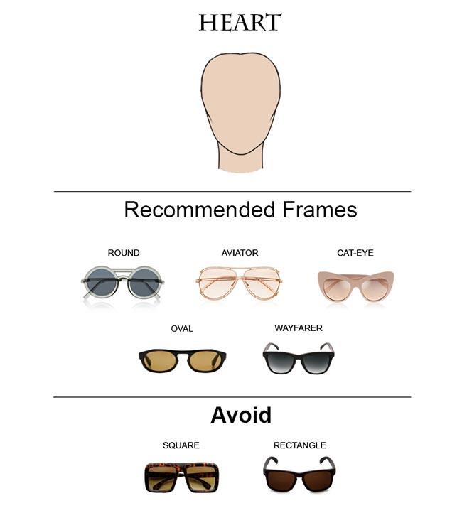 Glass Frames for Heart Face Shape