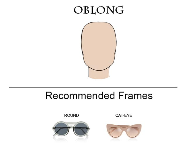 Glass Frames for Oblong Face Shape