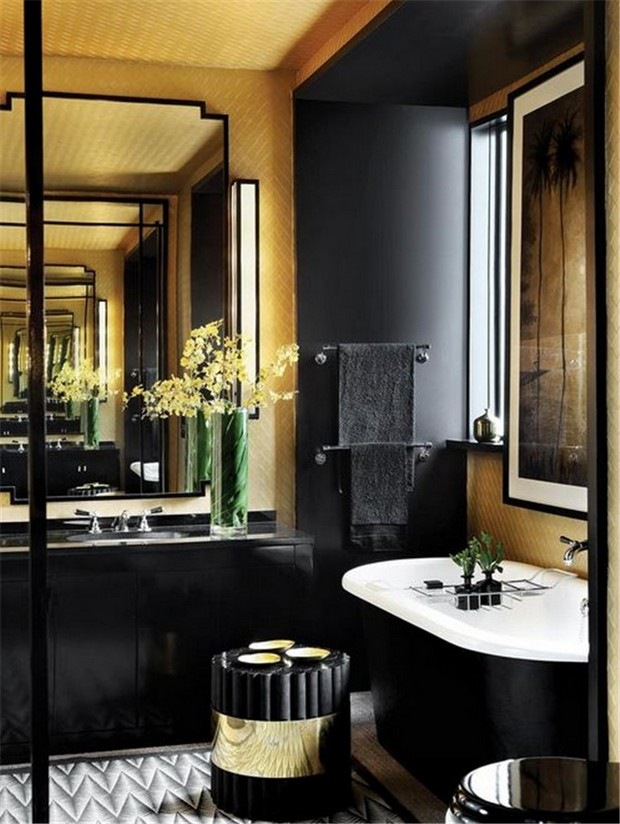 10 black luxury bathroom design ideas decor10 blog for Interior house designs black and white