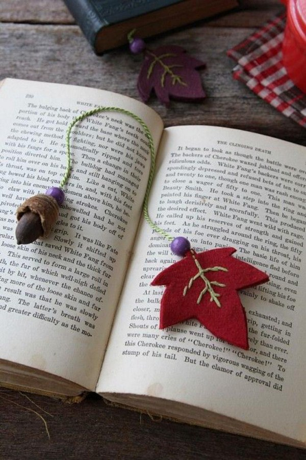 bookmarks make itself autumn motives