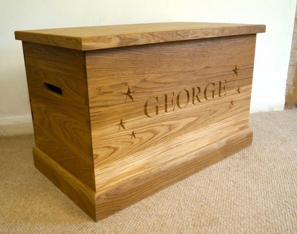 Storage boxes for toys made of wood