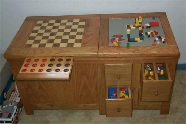 Storage nursery with an inscription Toys