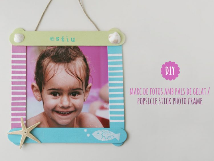 DIY popsicle stick photo frame