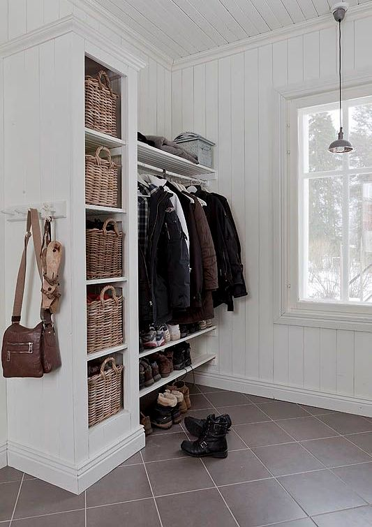 open shelving could work in the mudroom too