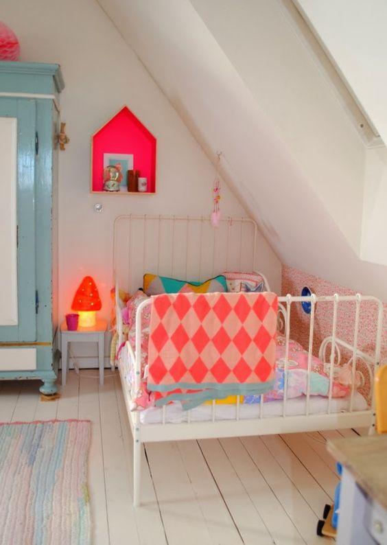 bold attic girls' room