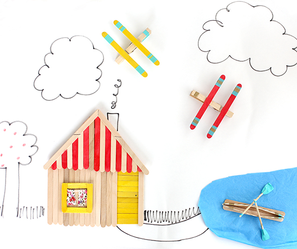 DIY popsicle stick toys