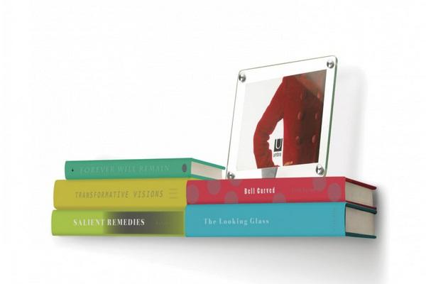 Double invisible bookshelf