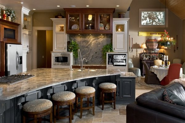 beautiful artwork plate of natural stone for kitchen
