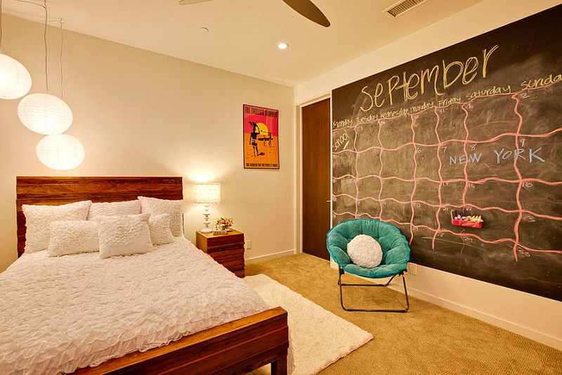 Creative Bedrooms With Chalkboards DESIGNRULZ (32)