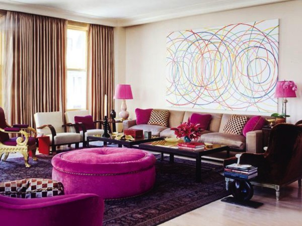15 colorful living rooms by jamie drake for summer homes for Living room ideas 12 x 15