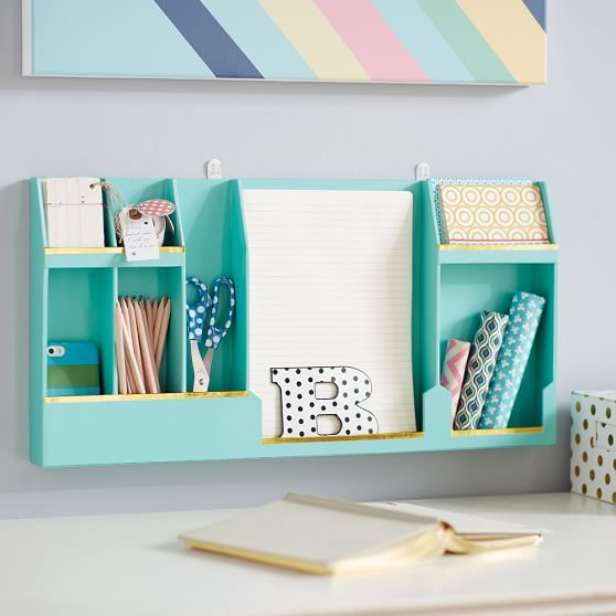 wall mounted paper organizer