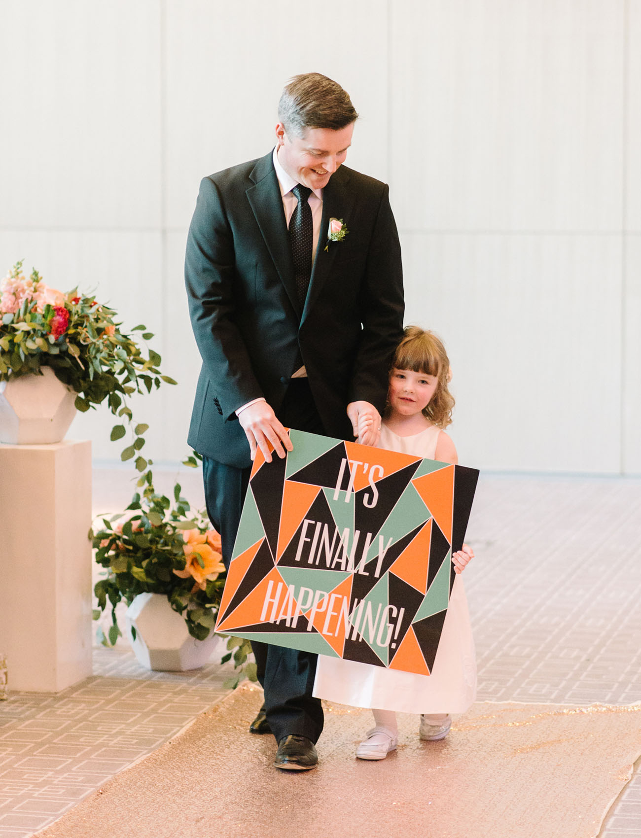 flower girl sign