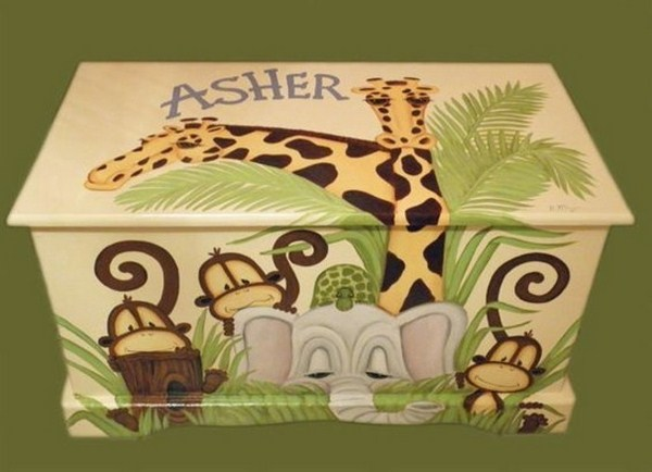 Toy boxes with animals from Africa