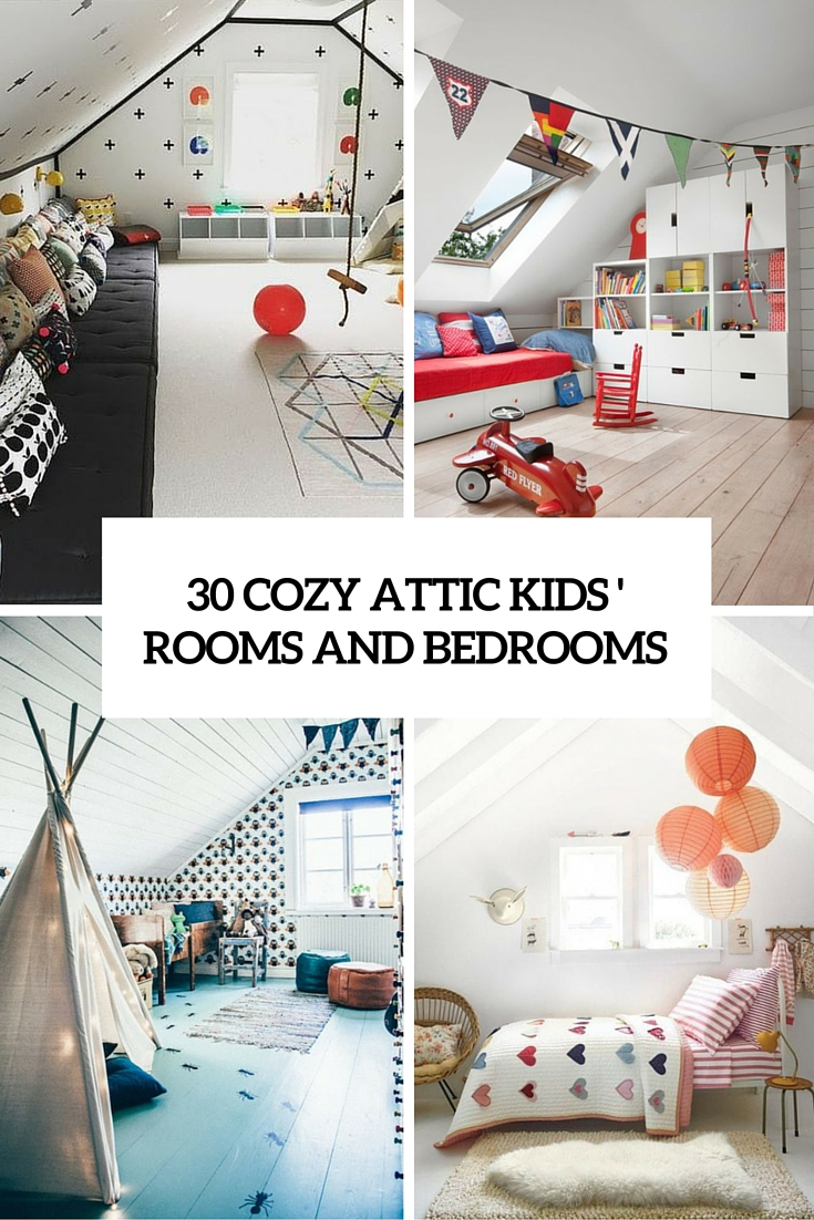 30 cozy attic kids rooms and bedrooms cover