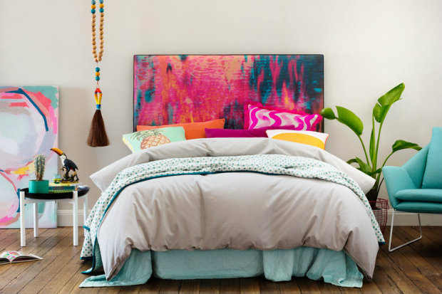 This has several inspirational summer bedroom ideas with the colorful headboard and whimsical tassel accent. Summer Bedroom Ideas Inspirational Summer Bedroom Ideas summerbedroom koket love happens