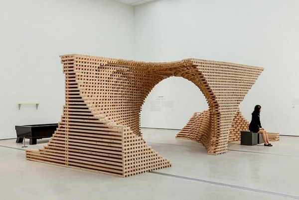 Museum of contemporary art skluptur wooden