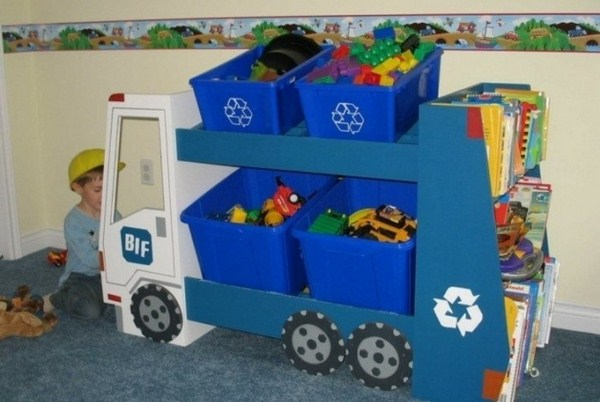 Toy boxes like a real truck