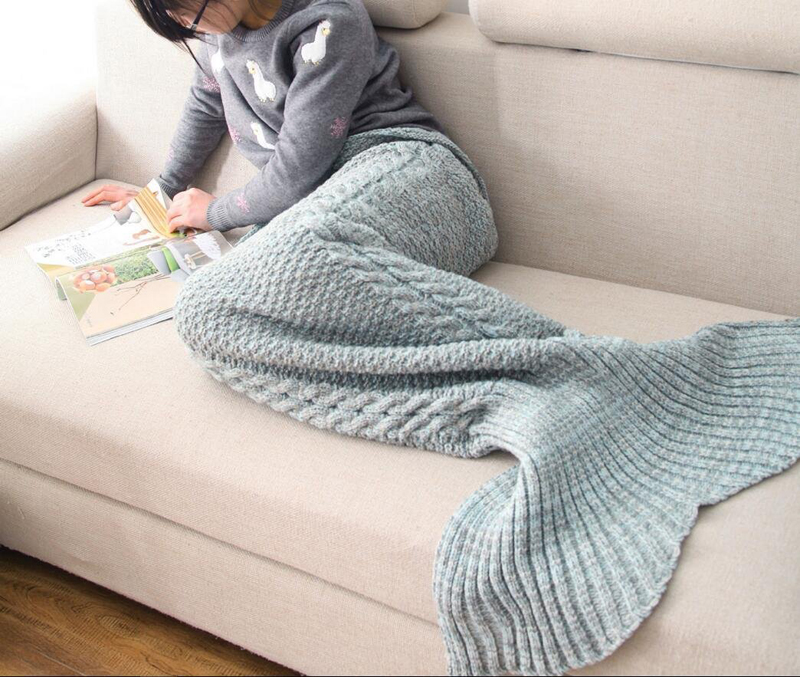 Blue Mermaid Tail Blanket designrulz (5)