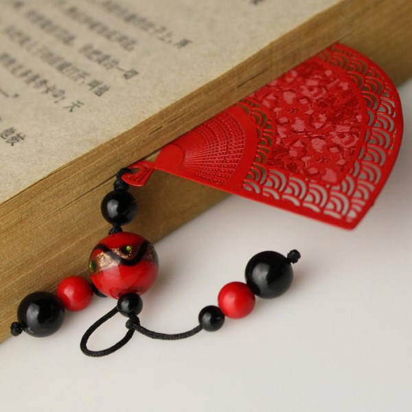 Japanese bookmarks red motif