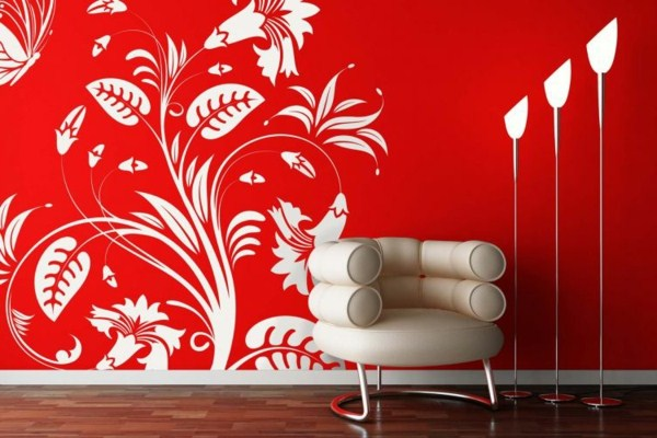 situated design modern and cool wall design in red