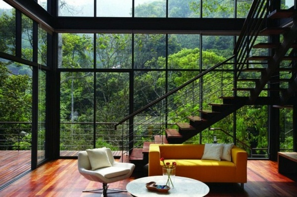 attractive design with stairs modern house panorama