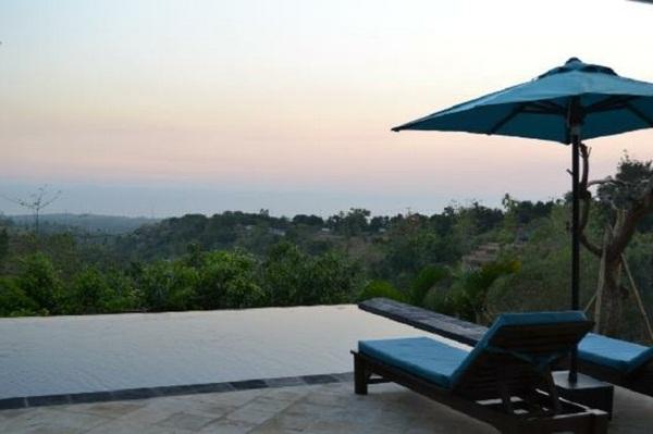 beautiful nature and modern design house panorama