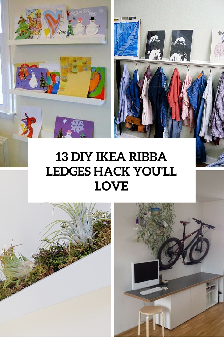 13 diy ikea ribba ledges hacks youll love cover