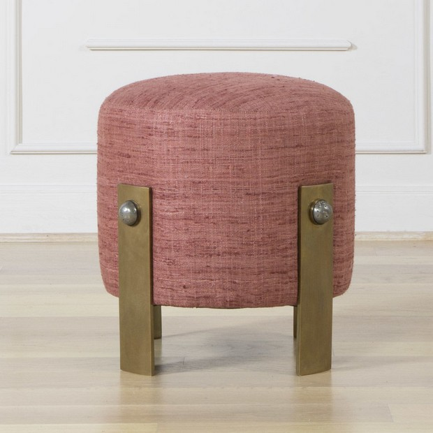 10 Beautiful Luxury Stools to use on the Living Room Design beautiful luxury stools 10 Beautiful Luxury Stools to use on the Living Room Design Room Decor Ideas 10 Beautiful Luxury Stools to use on the Living Room Design Griffith Stool by Kelly Wearstler