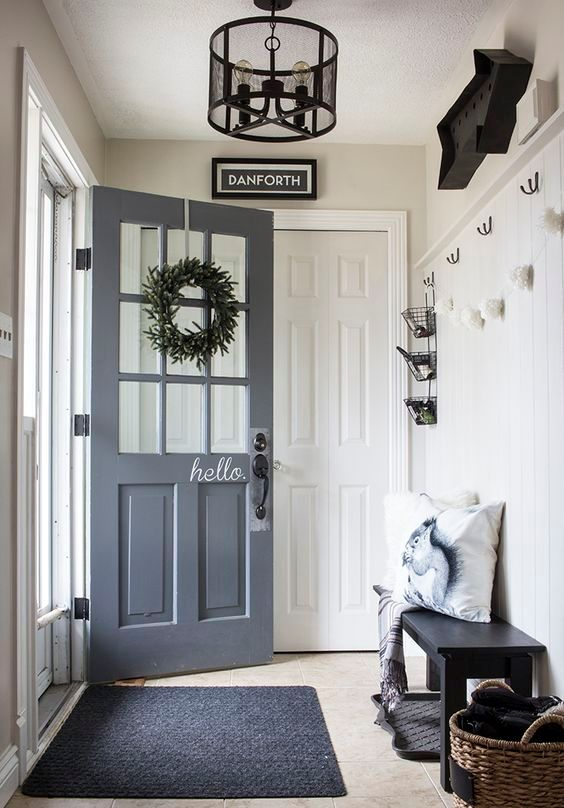 well light small mudroom