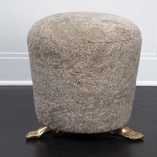 10 Beautiful Luxury Stools to use on the Living Room Design beautiful luxury stools 10 Beautiful Luxury Stools to use on the Living Room Design Room Decor Ideas 10 Beautiful Luxury Stools to use on the Living Room Design Foot Stool by Kelly Wearstler